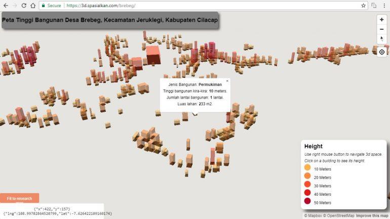 3 Dimensi MapBox Membuat Webgis Yogyakarta Indonesia Spasialkan