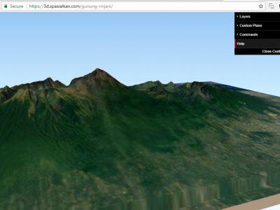 Animasi 3 Dimensi QGIS2threejs - Membuat webgis Indonesia - Spasialkan