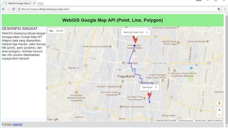 cara membuat webgis dengan google maps api