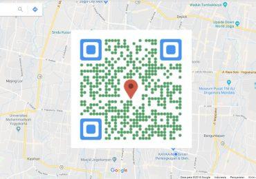 QR Code Google Maps Koordinat Lokasi Absolut