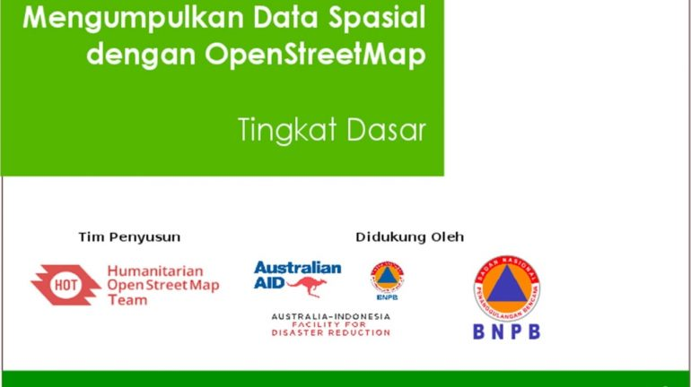 Cover Modul Ebook Mengumpulkan Data Spasial dengan OpenStreetMap (OSM) [Tingkat Dasar]