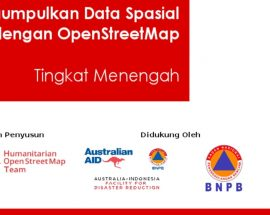 Cover Modul Ebook Mengumpulkan Data Spasial dengan OpenStreetMap (OSM) [Tingkat Menengah]