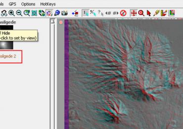 Relief Permukaan Bumi Secara 3D Anaglyph TNTmips - 3 D Anaglyph Imagery