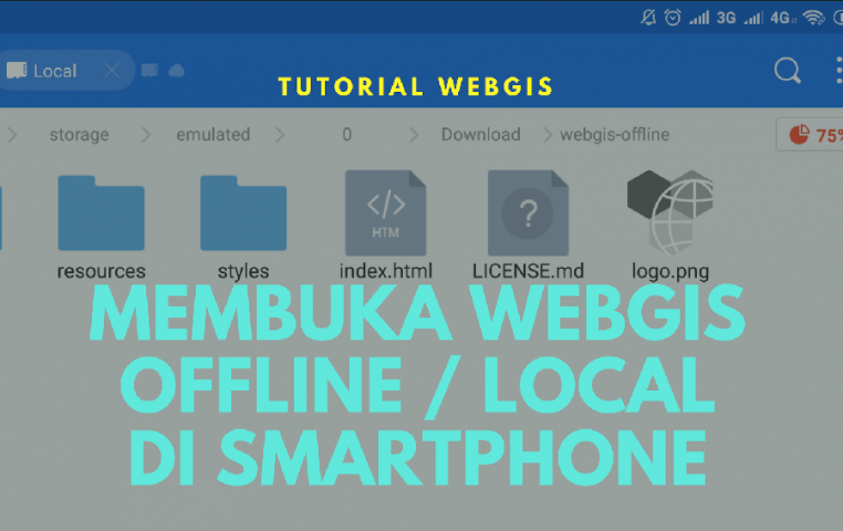 Membuka Local Offline Index html webgis webmap di Browser Smartphone