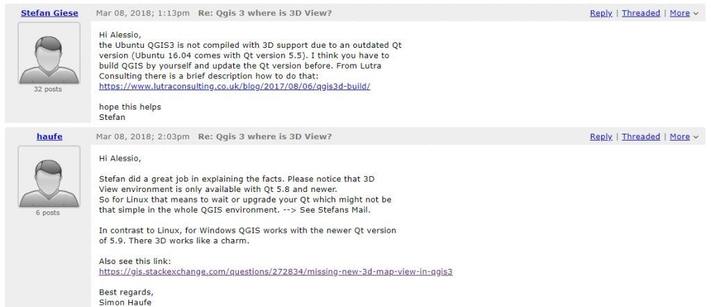 Solusi 3D Map View Fitur Baru di QGIS 3 Install Ubuntu 16.04