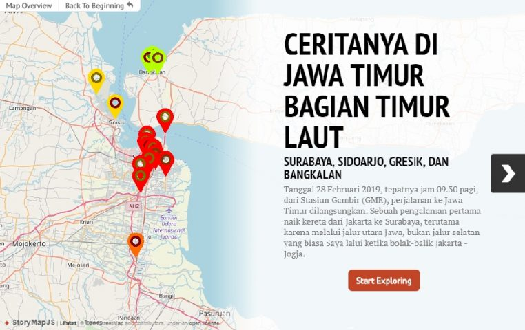 StoryMaps JS Cerita Jawa Timur Bagian Timur Laut