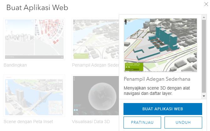 6. Cara Membuat Aplikasi Web 3D Scene Viewer di ArcGIS Online