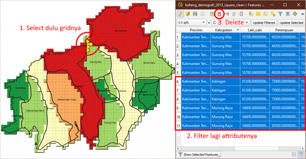 Tutorial Membuat Lego Maps Peta Lego - Urutan Simbol Atas Bawah - Cleaning Data