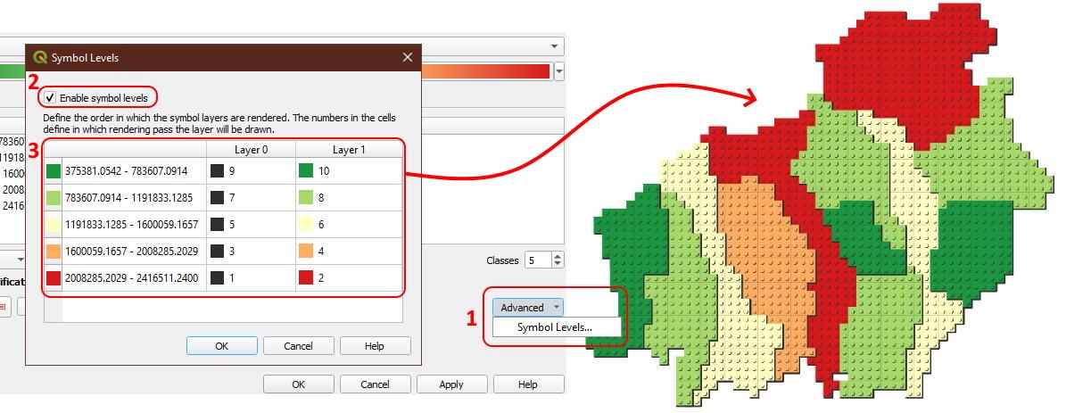 Tutorial Membuat Lego Maps Peta Lego - Urutan Simbol Level Atas Bawah