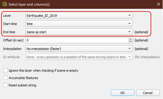 Tutorial Membuat Animasi Data Time Series Menggunakan QGIS - Settings Time Manager