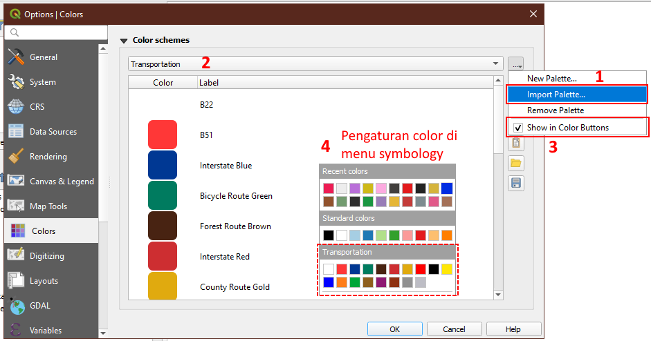 Cara Import GPL Color Palette ke QGIS