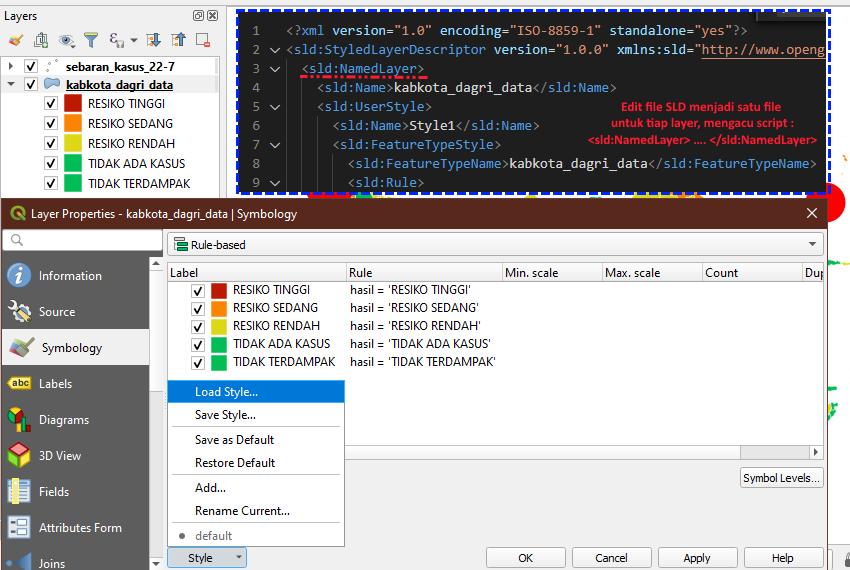 Edit file SLD Style dan Menambahkannya ke Dalam QGIS